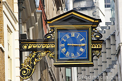 An Old English Street Clock