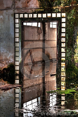 Old Entrance on abandoned factory