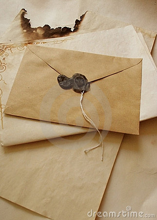 Free Old Envelope Royalty Free Stock Photography - 1098357