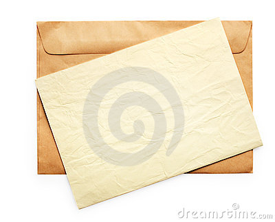 Old Envelope with Blank Note