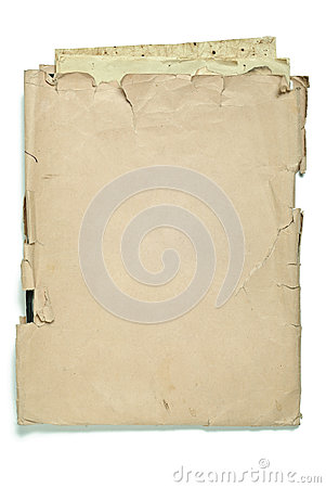 Old envelope with papers