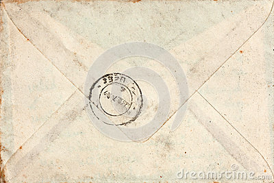 Old envelope with stamp