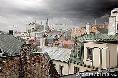 Old European cityscape