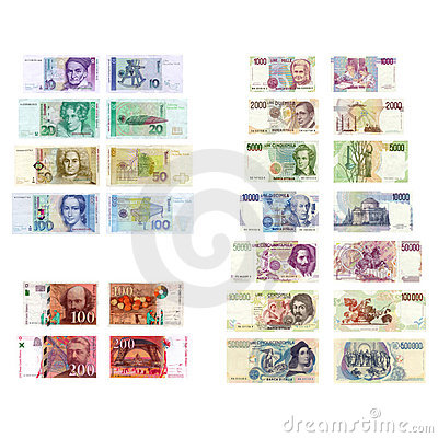 Old European currencies