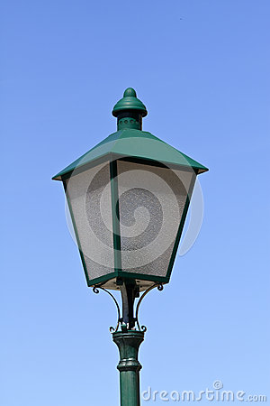 Old european streetlamp