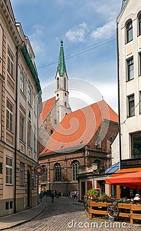 Free Old Evangelical Lutheran Church Of St. John. Riga, Latvia. Stock Photos - 59991973