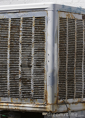 Old Evaporative Cooler Royalty Free Stock Photography