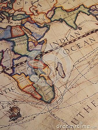 Old Explorer s Map