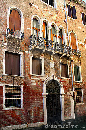 Old facade in Venice