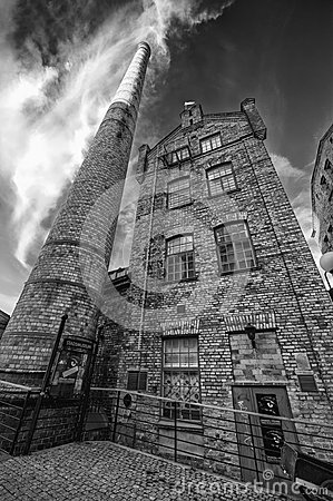 Free Old Factory Chimney In The Industrial Landscape Of Stock Photos - 27422413