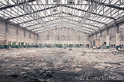 Old factory under demolition