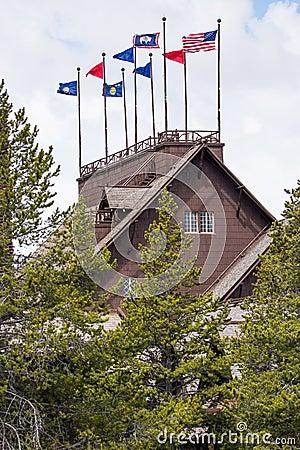 Free Old Faithful Inn And Lodge - Yellowstone National Park Stock Image - 95258701