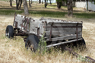 Old Farm Hay Wagon