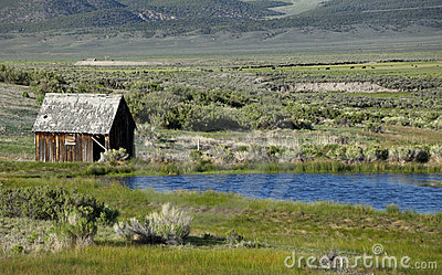 Old Farm House and Pond