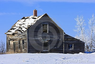 Old farm house in Winter