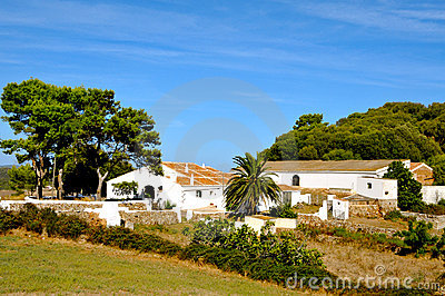 Old farm in Menorca, Balearic Islands, Spain