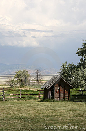 Antique family farm shed in Utah