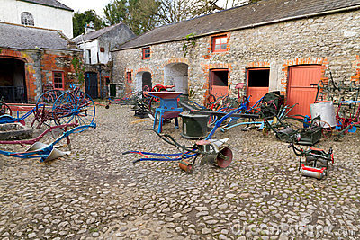 Old farm yard in Bunratty Folk Park