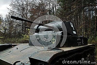 Old fascist tank