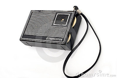 Old fashion pocket radio