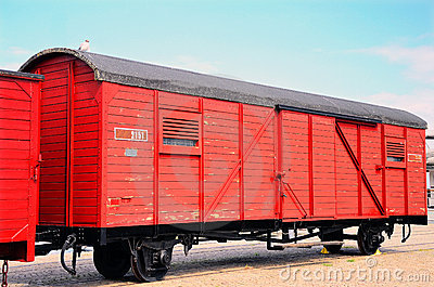 Old fashion train with cargo