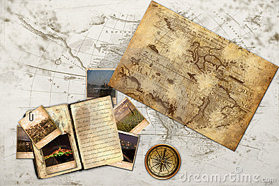 Old Fashion Traveling Diary