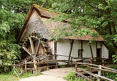 Old-fashion watermill