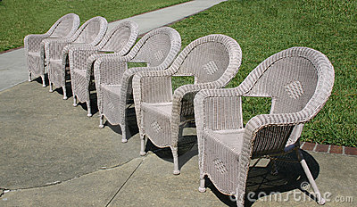Old fashion wicker chairs