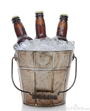 Free Old Fashioned Beer Bucket Closeup Royalty Free Stock Image - 39852366