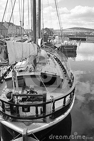 Boat docked in Kirkwall harbour