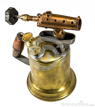 Free Old Fashioned Brass Blow Torch Royalty Free Stock Images - 108925889