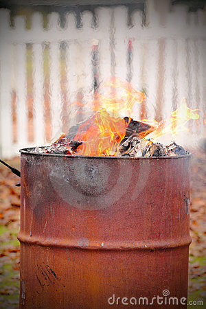 Old Fashioned Burn Barrel