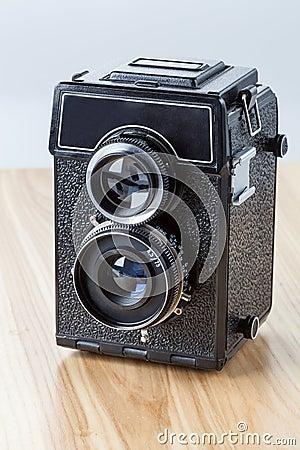 Old-fashioned camera, closeup