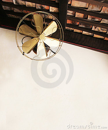 Old fashioned ceiling fan