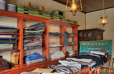 Old Fashioned Clothing Store Interior