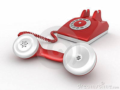 Old-fashioned disk phone