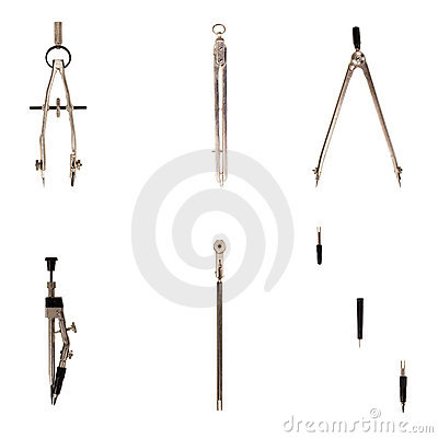Free Old-fashioned Drawing Instruments Royalty Free Stock Image - 21558356