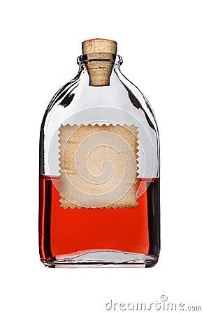 Old fashioned drug bottle.