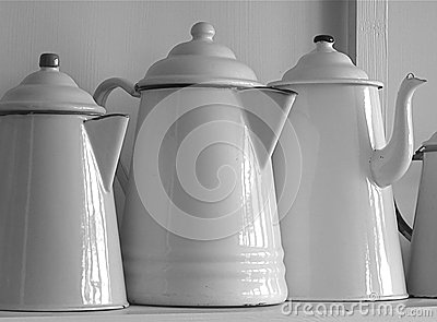 Old Fashioned Enamel Coffee Pots