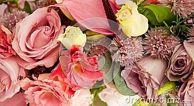 Old fashioned flower arrangement