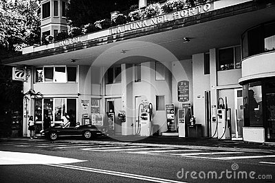 Old fashioned gas station Editorial Stock Photo