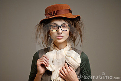 Old-fashioned Girl Royalty Free Stock Photography - Image: 23943987