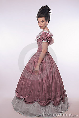 Girl In Old-fashioned Dress Stock Photo - Image: 6630820