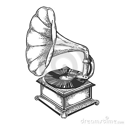 Free Old Fashioned Gramophone Engraving Vector Stock Photo - 116460400