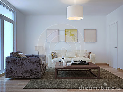Old fashioned living room design stock illustration for Old fashioned living room designs