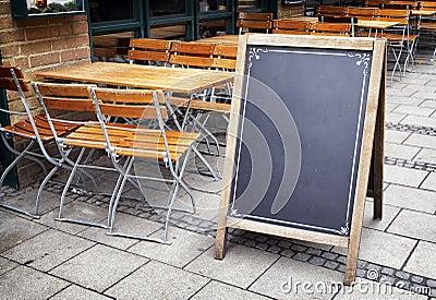 Old fashioned menu board