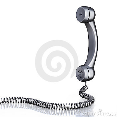 Old-fashioned metallic handset