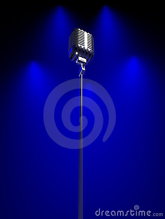 Free Old Fashioned Microphone Royalty Free Stock Photos - 4385598