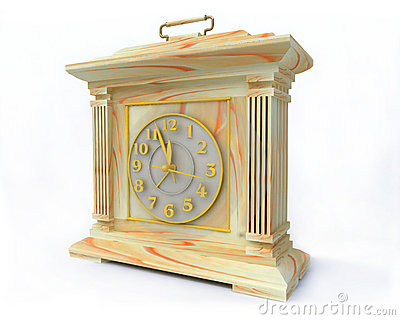 OLd-Fashioned Opal Clock