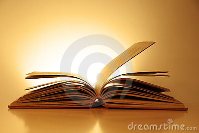 Old Fashioned Open Book